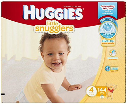Huggies Little Snugglers Diapers - Size 4 - 144 ct - 1