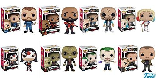 POP Movies: Suicide Squad - Joker Shirtless,Rick Flagg, Killer Croc, Katana, Deadshot, El Diablo, Harley Quinn, Boomerang! Vinyl Figures Set of 8