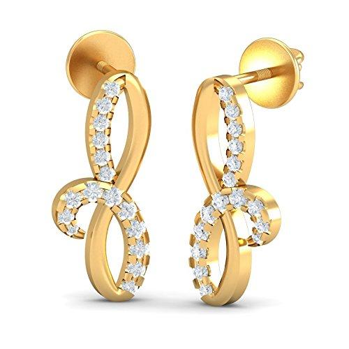 Iris Zomint Yellow Gold Iris Earrings (Multicolor)