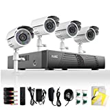 ELEC® New 4Ch Channel CCTV DVR Realtime CCTV Network H.264 Security Home Surveillance System With 4 Bullet 480TVL Outdoor Cameras (White) Free E-cloud ELEC-CVK-1004C2 (No Hard Drive)