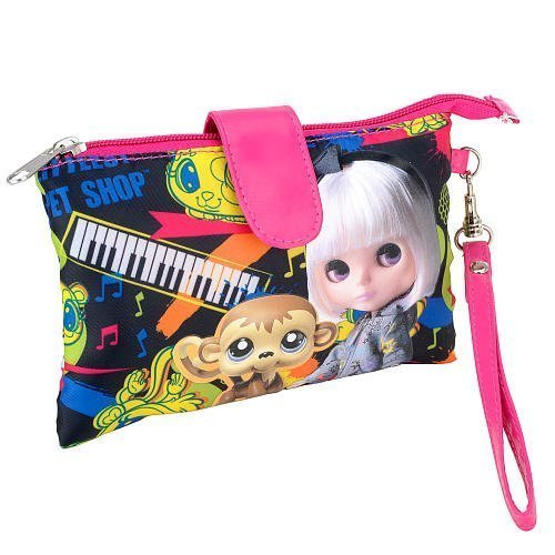 Littlest Pet Shop Blythe 'Rock and Roll' Wristlet - Black - 1