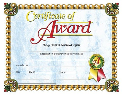 Buy HAYES SCHOOL PUBLISHING H-VA632 CERTIFICATES OF AWARD-36/PK 8-1/2 X 11 INKJET/LASER