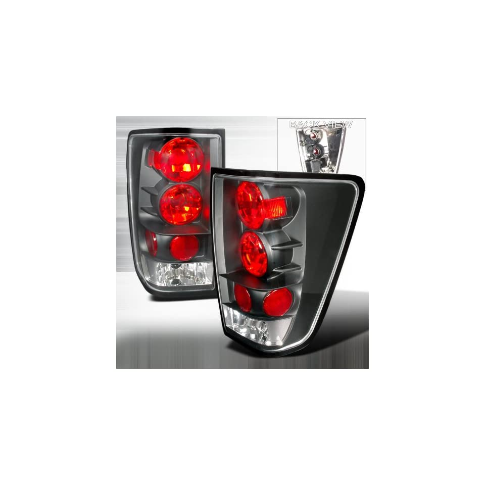 04 Up Nissan Titan Altezza Tail Lights Black Automotive