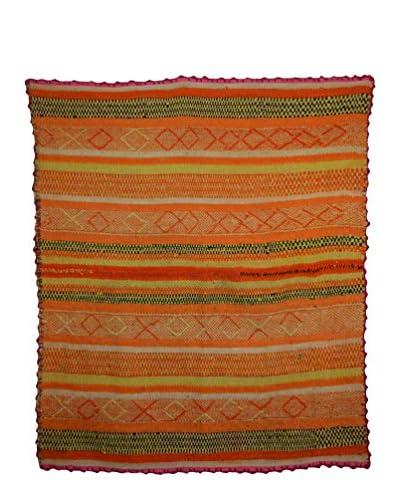 Uptown Down Found Heirloom Rug, Orange, 5' 2 x 4' 4