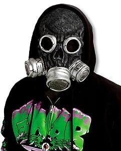 Zombie Gasmaske schwarz
