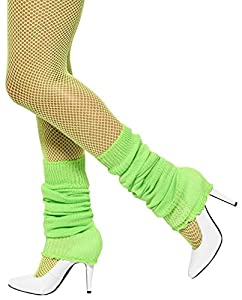 Smiffy's Unisex-Adult Leg Warmers, Green, One Size