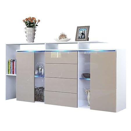 Credenza moderna modello Lecce L160, mobile bianco e grigio tortora disponibile in 13 finiture art.3114