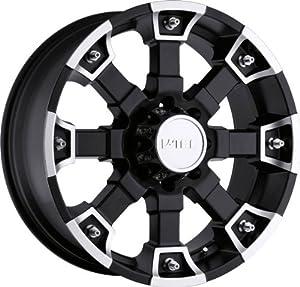 VISION WHEEL – 392 brutal – 22 Inch Rim x 9.5 – (5×135) Offset (10) Wheel Finish – matte black machined face