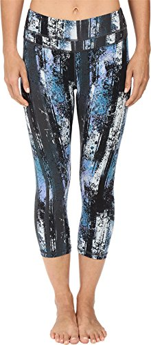 Lucy Women's Studio Hatha Capri Legging Multi Woods Print Pants MD X 19.5