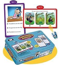Understanding Sentences Fun Deck with Secret Decoder - Super Duper Educational Learning Toy for Kids