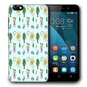 Snoogg Happy Girls Out Printed Protective Phone Back Case Cover For Huawei Honor 4X