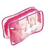 1pcs Wasserdichte Transparente kosmetikbeutel kosmetikstaschen Zipper Toiletry Bag