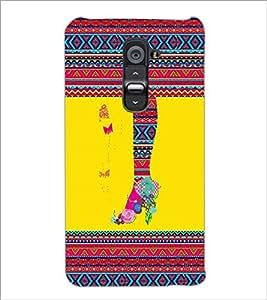 PrintDhaba Tribal Pattern D-4169 Back Case Cover for LG G2 (Multi-Coloured)