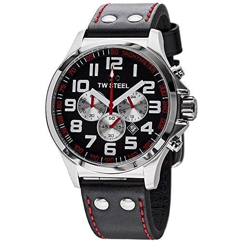 TW Steel - TW-414 - Montre Femme - Quartz Chronographe - Chronomètre - Bracelet Cuir Multicolore
