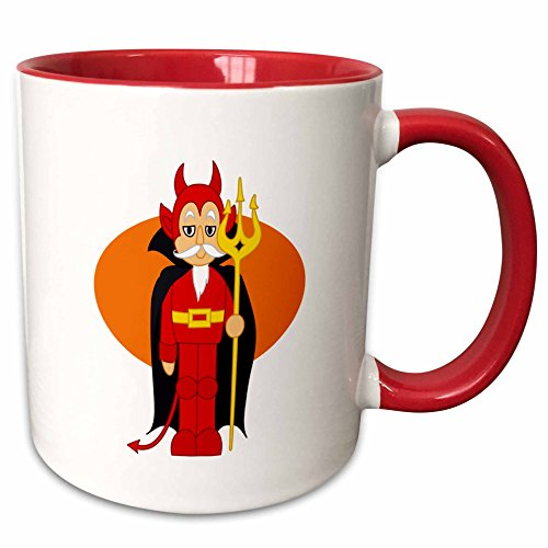 Susans Zoo Crew Holidays Halloween - Devil Costume Orange behind - 11oz Two-Tone Red Mug (mug_178354_5) (Sea Devil Costume compare prices)