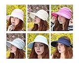 夏のファッション保護フロッピー広いつばビーチサンハットバイザー太陽の帽子