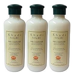 Khadi Mauri Herbal Hair Conditioner with Aloe Vera Pack of 3 Ayurvedic 210 ml each