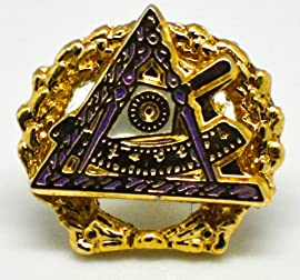 York Rite Past Grand Illustrious Master Masonic Deluxe Lapel Pin
