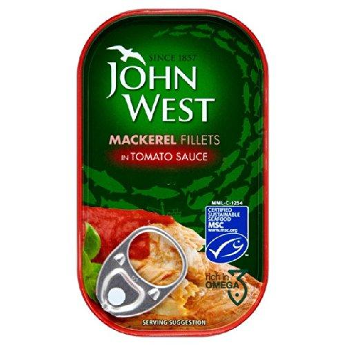 John West Mackerel Fillets in Tomato Sauce 125g