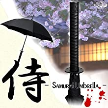 独占輸入★全米GEEK界激震★ThinkGeekの戦国グッズSamurai Sword Handle Umbrella - 日本刀風侍雨傘 -