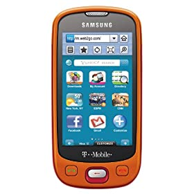 Samsung Highlight t749 Phone, Fire Orange/Red (T-Mobile)