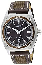 Citizen Eco-Drive Analog Brown Dial Mens Watch AW1051-09W