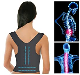 Milex Posture Support Corrective Back Bridge with Magnetic Therapy (BLACK)