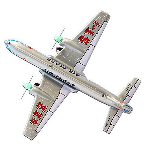 Blechflugzeug Propeller - Nostalgisches Blechspielzeug für Sammler - 15,00 cm lang