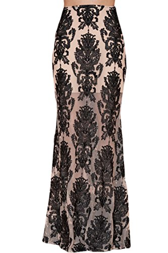 Pink Wind Women'S Sexy Transparent Little Mermaid Party See Through Maxi Dress S