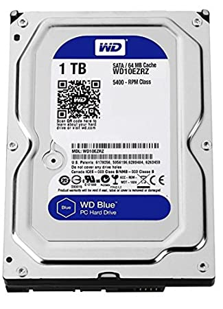 Western Digital Blue WD10EZRZ Disque Dur Interne 1 To SATA 600 Argent