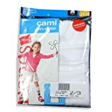 Hanes - Toddler Girls Camis, White, 3 Pack, TV30WH (Size 4)