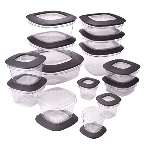 Rubbermaid Rubbermaid Premier Food Storage Containers, 28-Piece Set, Grey (Storage Container Kitchen compare prices)