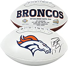 Peyton Manning Denver Broncos Autographed White Panel Football - Memories - Fanatics Authentic Certified