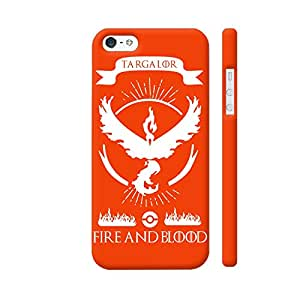 Colorpur Pokemon Go Team Valor Fire And Blood Designer Mobile Phone Case Back Cover For Apple iPhone 5 / 5s | Artist: Manik Chawla