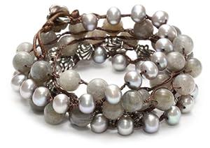 Love Heals Alva, Labradorite Wrap Bracelet