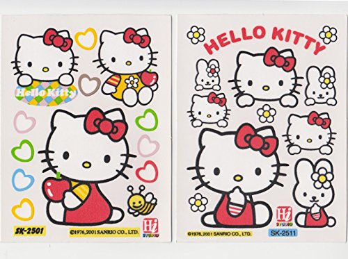 (Japan Import) Sanrio Hello Kitty Decal Waterproof Vinyl Stickers Furniture Glass Window Bathroom Laptop Removable Set Of 2 Sheets front-44217