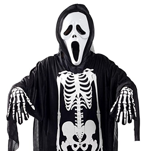Scream Mask Ghost Glove Cloaks Adults Halloween Fancy Party Costume Props Set