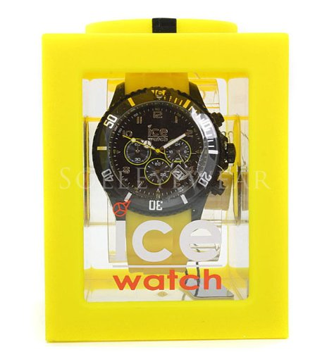 Ice-Watch 102139 Chronograph Yellow Silicone Unisex Watch