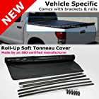 Nissan Titan 04-11 Crew Cab 5 ft 5 Bed Black Roll-Up Soft Tonneau Cover