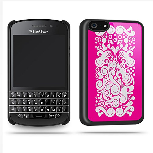 Black Pattern Pink White Case Shell Cover Phone Case Shell For Blackberry Q10 - Black