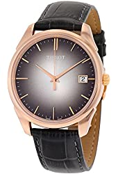 Tissot Vintage Black Dial Black Leather Mens Watch T9204107606100