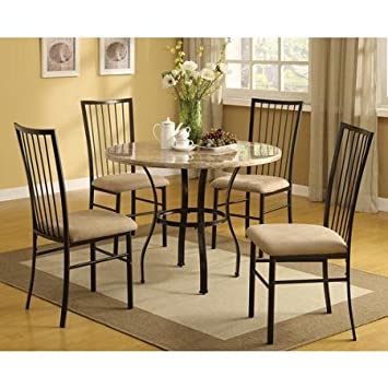 Darell Faux Marble Top 5-Piece Dining Set Simple,Yet Modern Design