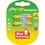 Godrej GP AA 2100mAh NiMh Rechargeable Battery Pack Of 2
