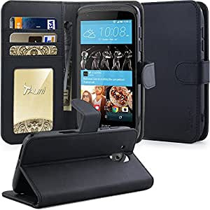 HTC Desire 526 Case Tauri [Kickstand] Luxury Wallet Leather Case Flip Cover with Stand & Card Slots Pocket For HTC Desire 526 - Black
