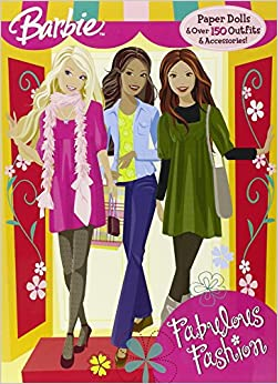 Fabulous Fashion Paper Doll Book Barbie Golden Books 9780375847455 Books
