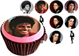 Michael Jackson 12(of) 38mm (1.5 Inch) PRE-CUT Cake Toppers- PRICE INCLUDES SHIPPING FROM UK - Edible Rice Paper Cupcake Decoration (film) Amazon.com
