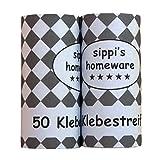 sippi's homeware Fusselroller, Fusselrolle, Fusselentferner schwarz (3er Set/150 Blatt) + Kunststoffhülle für das Lagern -