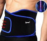 Ipow Profi Fitnessgürtel Sport Rückenbandage Rückenstütze - Hochwertig Atmungsaktiv mit Doppelzug zur elastischen Kompression