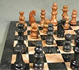 Black and Tan Marble Chess Set