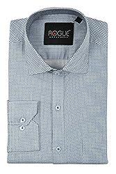 ROGUE URBAN WEAR Men's Formal Shirt (ROGSP32WHITE_BP_L, White, Large)